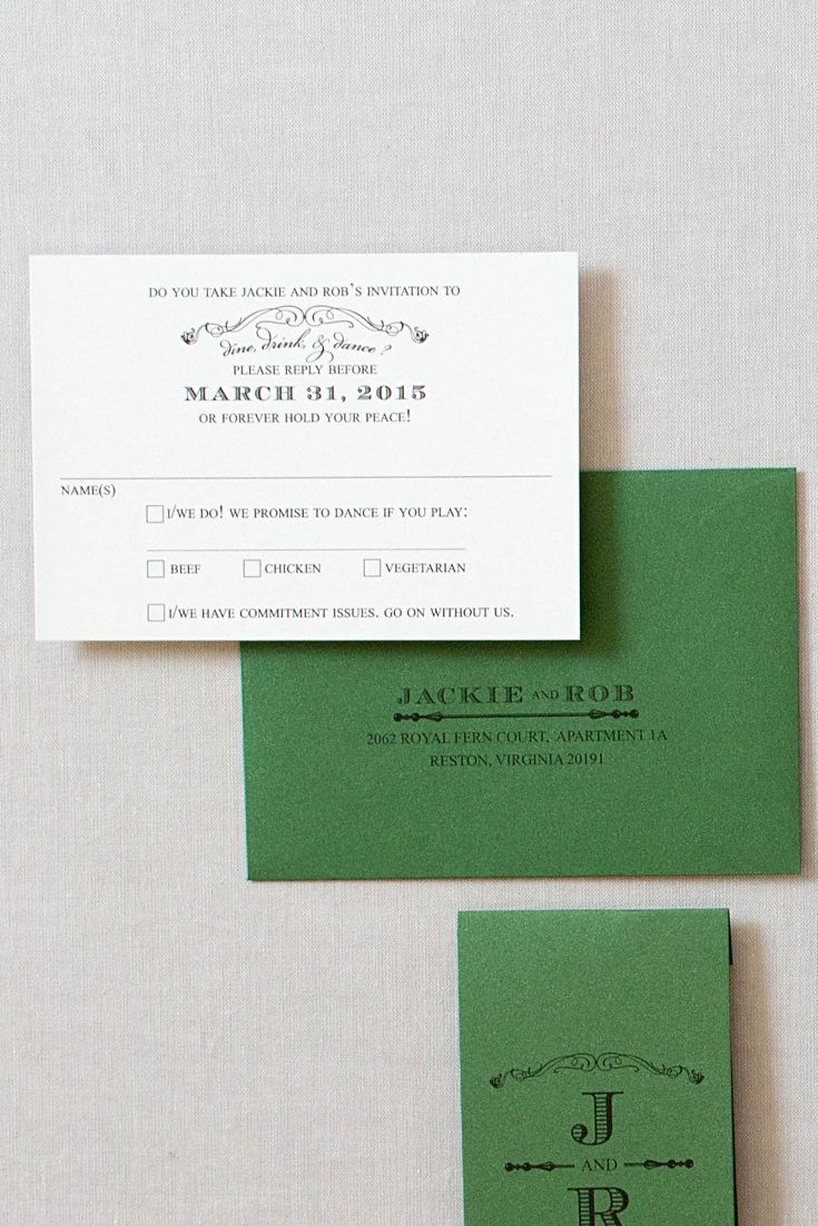 Our White House wedding invitations were designed