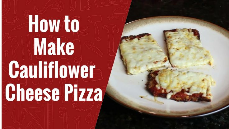 How to Make Cauliflower Cheese Pizza #keto #pizza