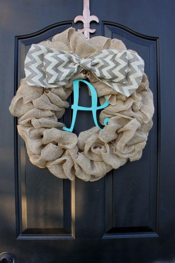 Etsy Wreath - Shabby Chic Decor - Summer Wreath - Wreath for Door - Home decor-  Wreath- Country Cottage Decor via Etsy
