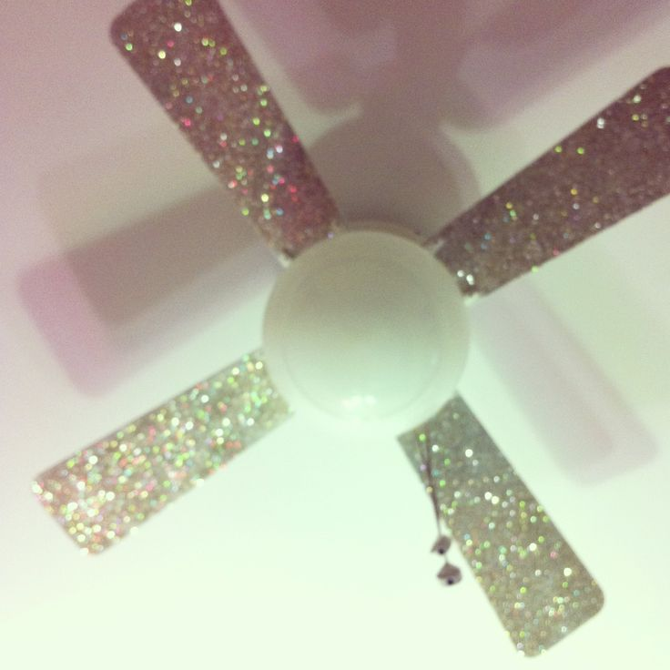 Kels' new glitter fan blades !!