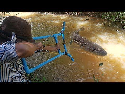 Amazing Girl Uses Pvc Pipe Compound Bowfishing To Shoot