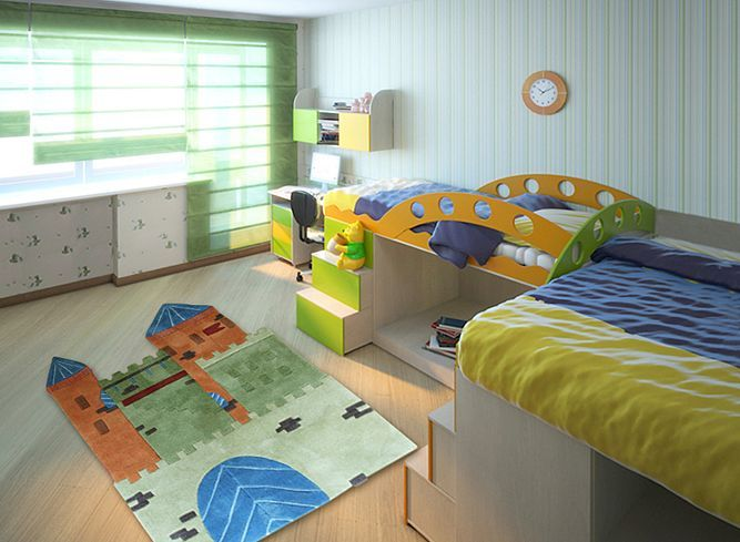 Happy Rugs w Limango - dywan do pokoju dziecięcego Zamek Księżniczki