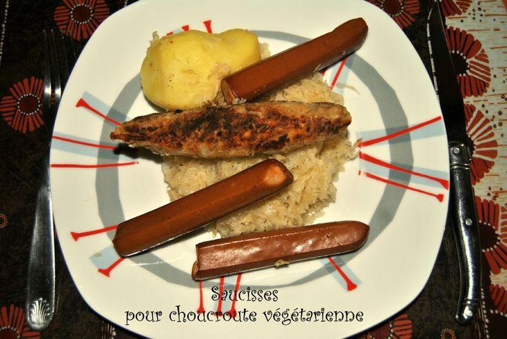 saucisse pour choucroute végétarienne