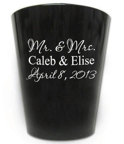 120 Personalized Romantic Wedding Favor Shot Glasses by Factory21, $75.00