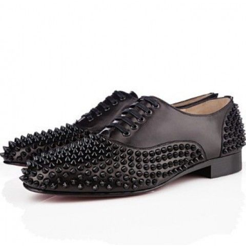 Christian Louboutin Freddy Man Flat Leather Sneakers Black
