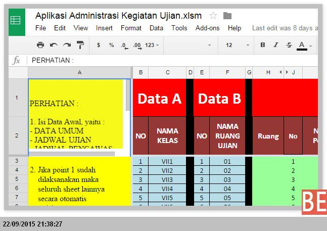 [File Pendidikan] Aplikasi Excel untuk Membuat Perlengkapan Ujian di Sekolah…