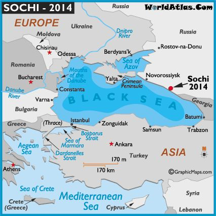 sochi russia map | print this map