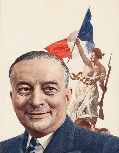 Georges Bidault by Boris Chaliapin