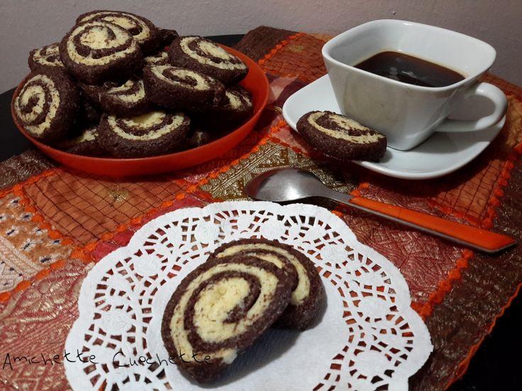 Frollini bicolore panna e cioccolato