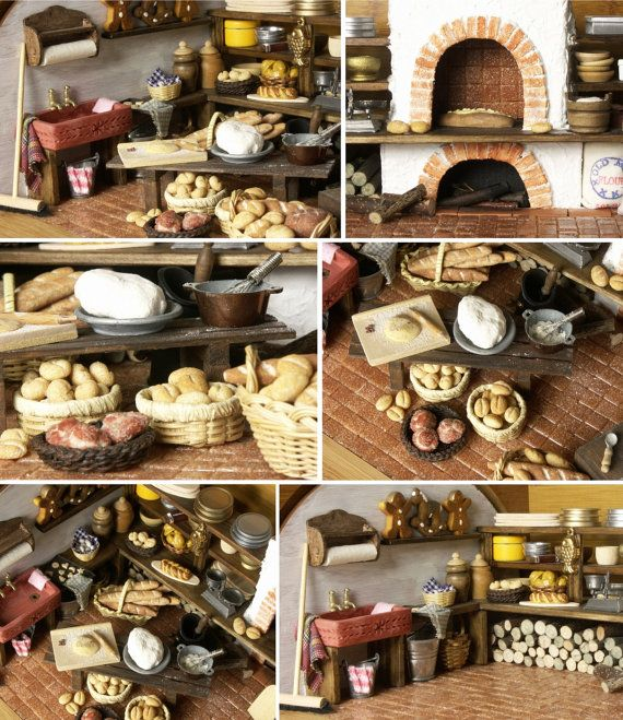 RESERVED for MARIA: Vintage Bakehouse in a Bread Box by DinkyWorld