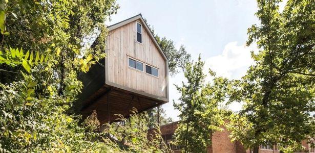 Maison bois sur pilotis dans les sous-bois de Kansas City | Construire Tendance