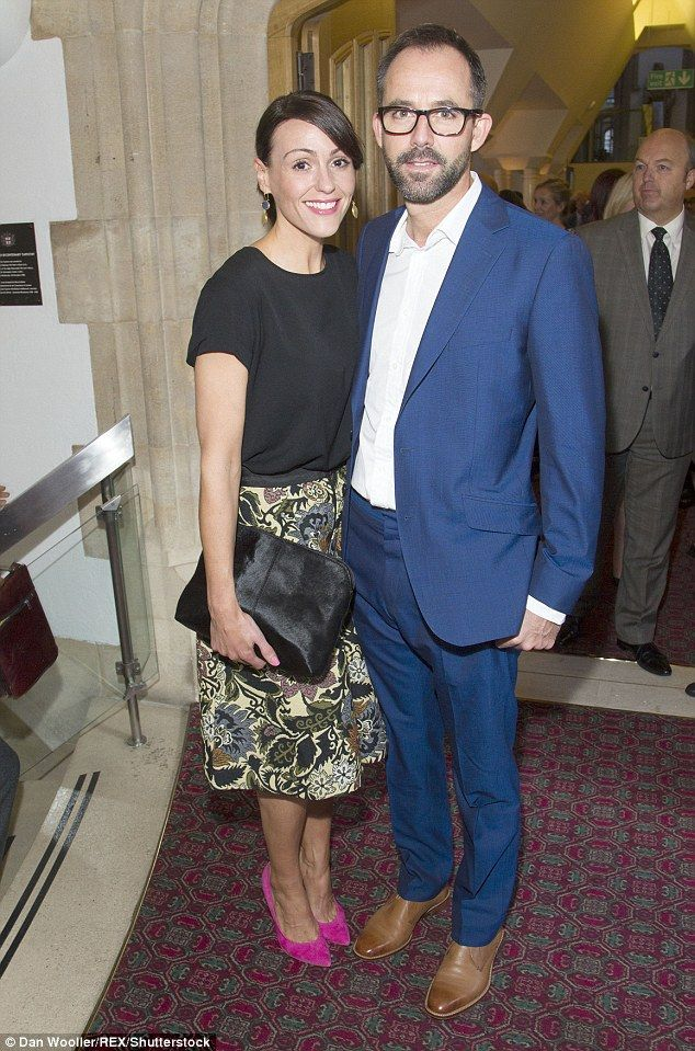 Proud parents: Suranne and Laurence tied the knot in a private ceremony in London after he proposed following a whirlwind six month romance