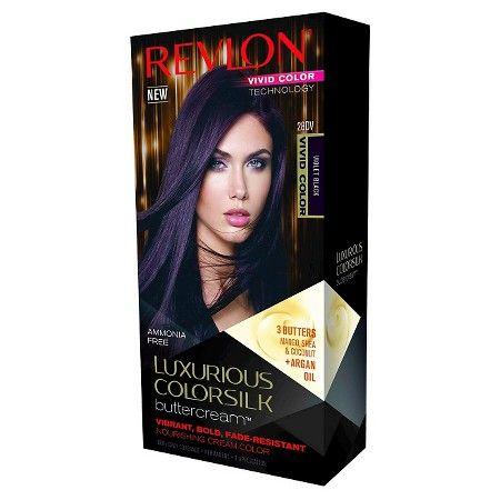 Revlon® Luxurious Colorsilk Buttercream™ Haircolor Vivid Colors Collection - 28DV Vivid Violet Black - 7.3 oz : Target