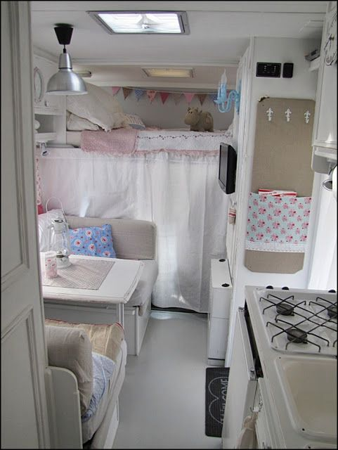 CUTEST RV ever... I am totally inspired to buy one and revamp.  From 'Anyone Can Decorate: Camping in Vintage Chic Style'