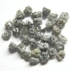 LOT OF 2.00 CT NATURAL GRAY ROUGH DIAMOND BEADS FOR NECKLACE THAT WILL MAKE YOU LOOK REALLY GORGEOUS at wholesale price.