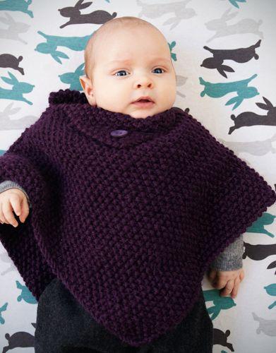 Tijdschrift Beginners 1 Herfst / Winter | 25: Baby Poncho | Paars