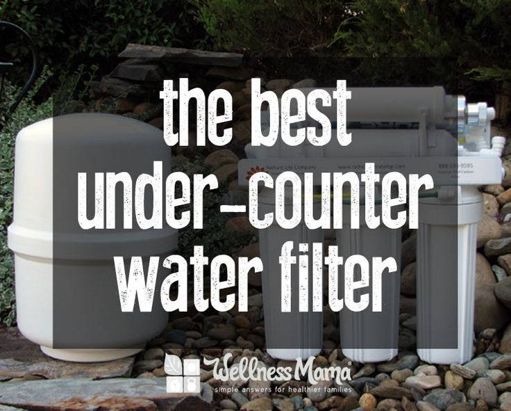 I wanted to find a great under-counter water filter to remove chlorine, fluoride and other contaminants that wouldn't remove magnesium and other minerals.