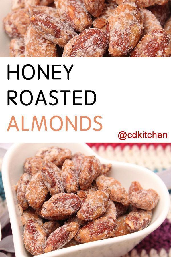 Made with almonds, sugar, salt, honey, water, almond or vegetable oil | CDKitchen.com