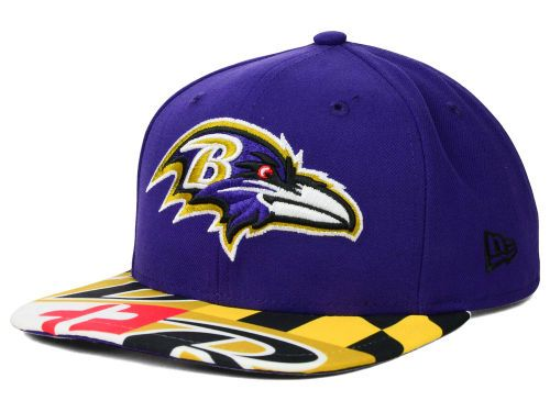 Baltimore Ravens New Era NFL Flag 9FIFTY Snapback Cap Hats