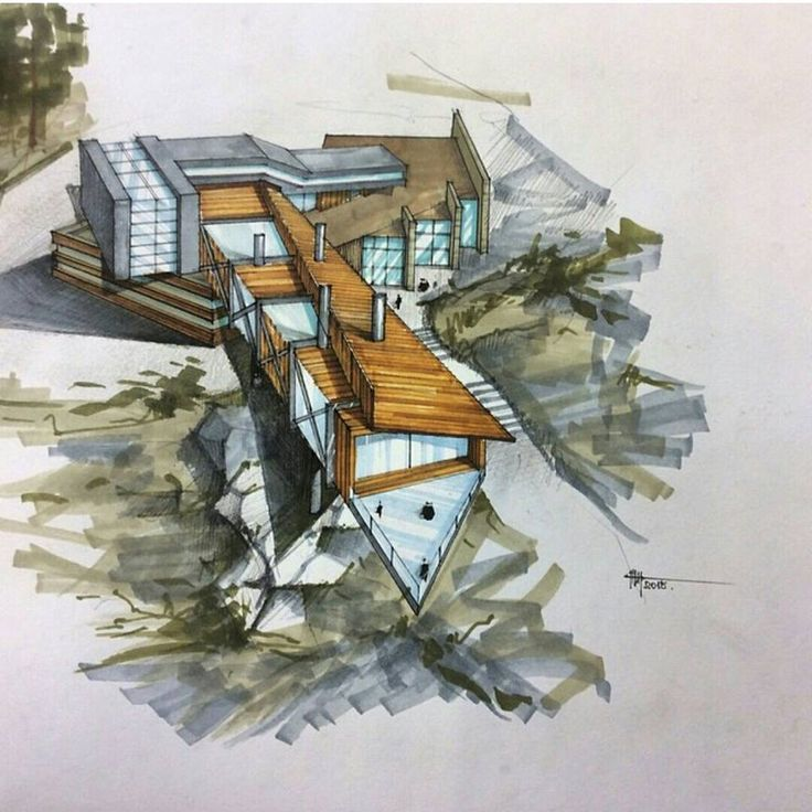 Archidrawing with markers risbe in skice pinterest for Tianhua architecture design company