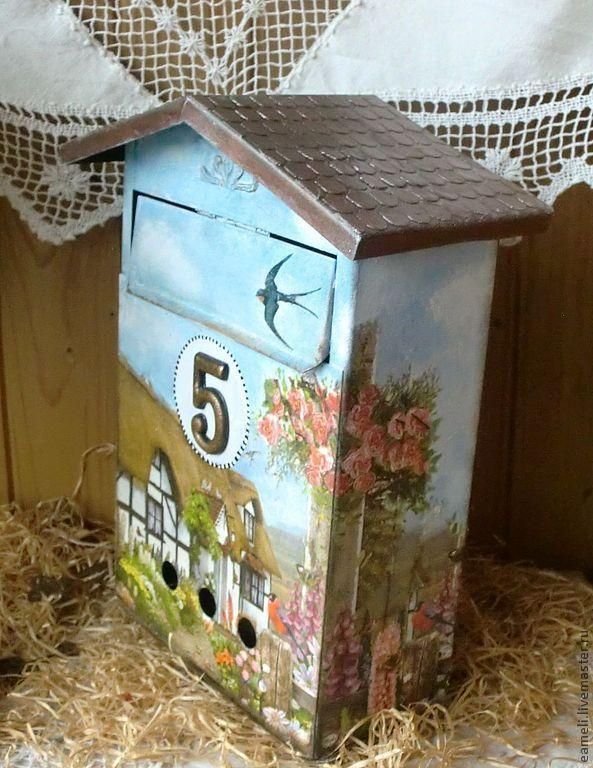 """Купить Почтовый ящик """"Мой уютный дом"""" - коричневый, подарок, почтовый ящик"""