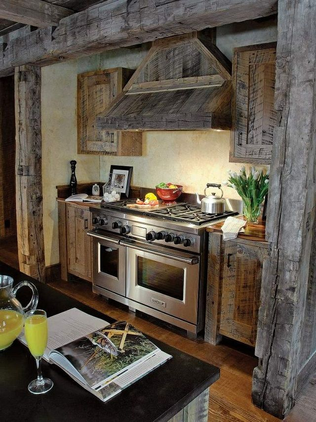 48 best images about log cabins rustic houses on pinterest for Country kitchen design ideas 4 homes