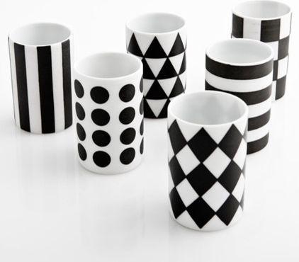 modern glassware by Poketo