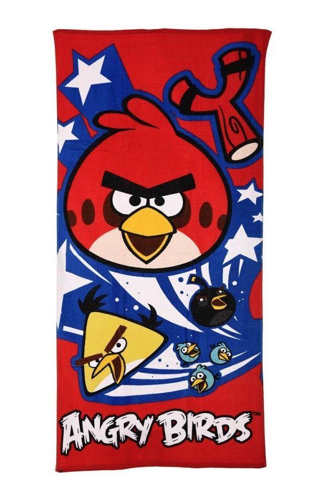 Angry Birds Handdoek met Chuck en Red