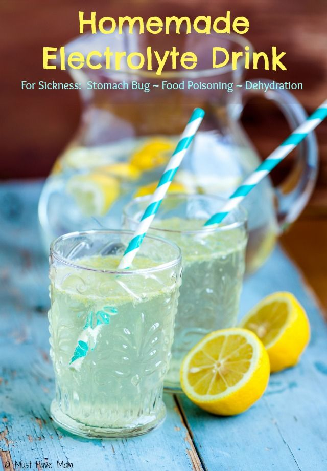 Homemade Electrolyte Drink Recipe! Make this instead of running to the store for Pedialyte! Use for stomach bug, food poisoning, dehydration, or sickness! Great natural remedy.