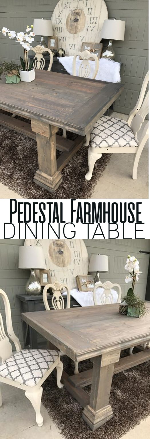 Pedestal Dining Table DIY Woodworking Plans
