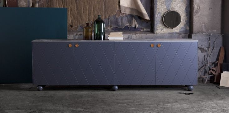 Blue Small Sideboard