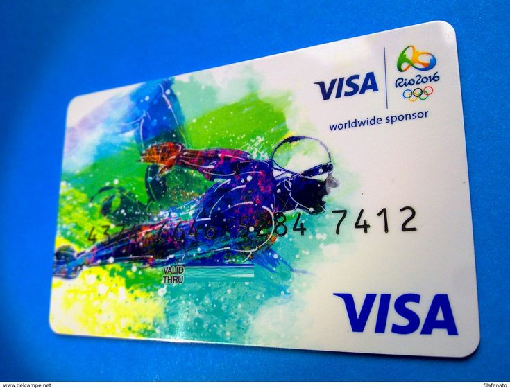 Russia VISA Credit Card, RIO Olympic Games, RARE - Credit Cards (Exp. Date Min. 10 Years)