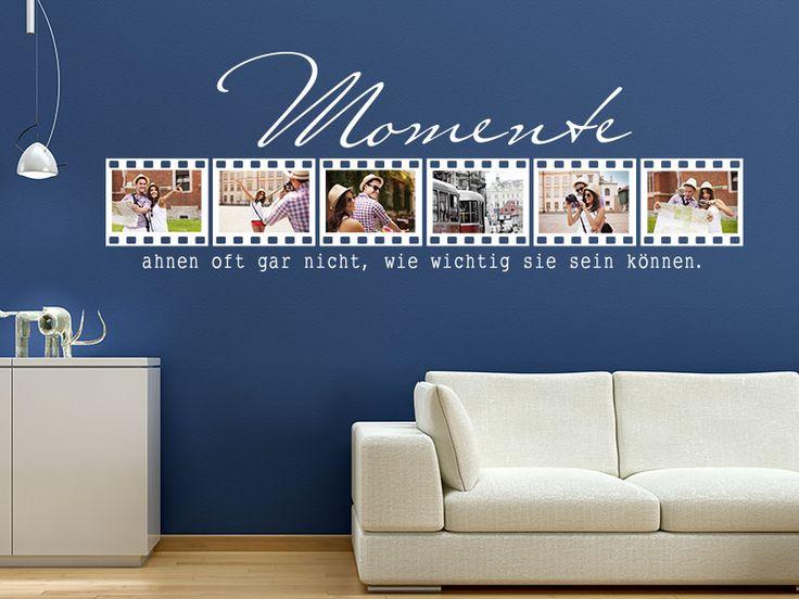 Momente ahnen, oft gar nicht, wie wichtig sie sein können. Genau mit dieser originellen Aussage können Sie Ihre besonderen Momente schmuckvoll einrahmen. Als Wandtattoo Fotorahmen Momente ahnen oft gar nicht… kleben Sie Ihre…
