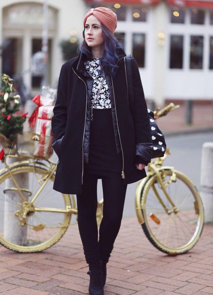 Winter Style, Winter Look, Winter Outfit, Gerry Weber, Winter coat, Turban, purple hair