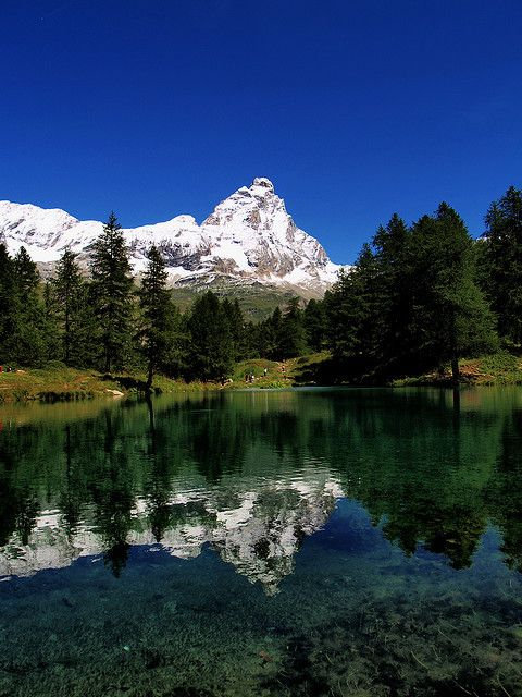 Lago Blu, Cervinia, Valle d'Aosta - the other side of the Matterhorn