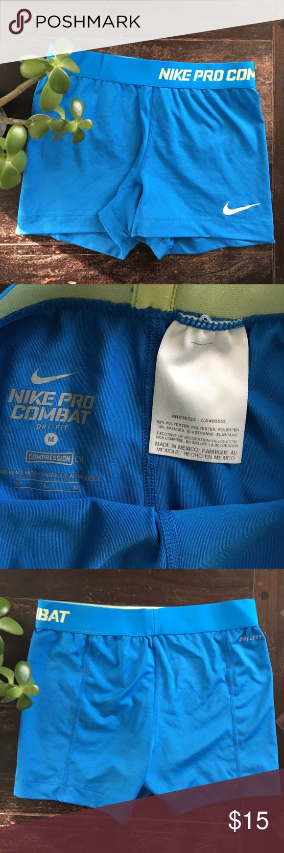 Nike pro combat compression shorts Medium Dri fit shorts. Great for working out! Nike Shorts