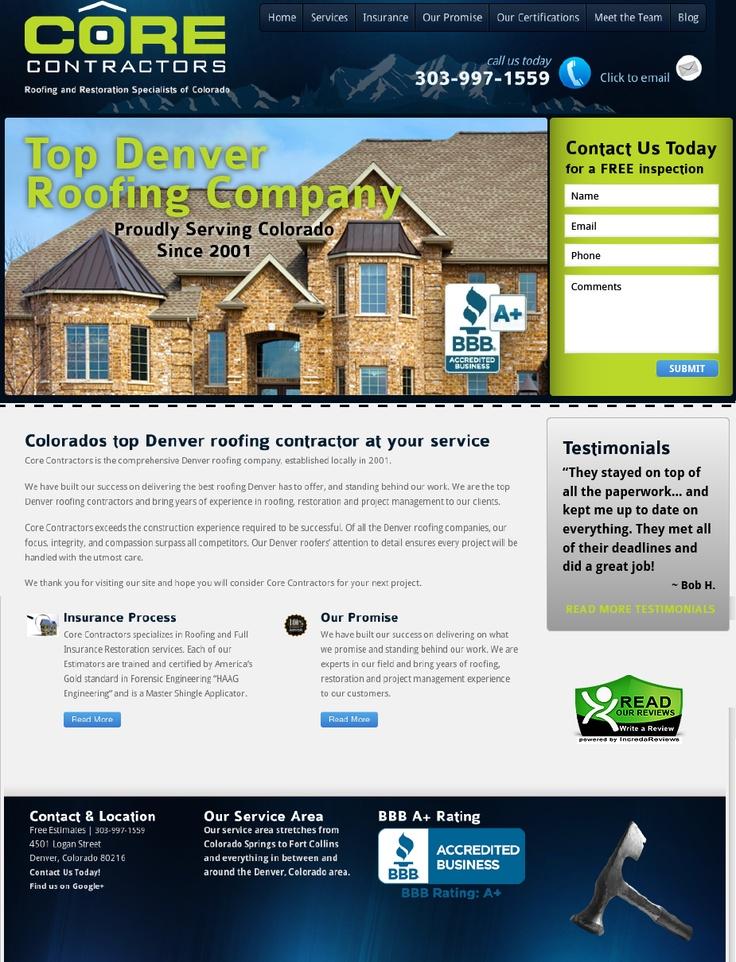 Conversion Optimized Coredoes Com Roofing Contractors Contractors Site Design