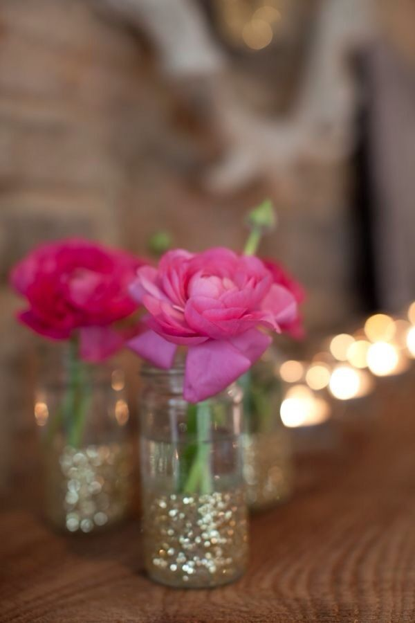 Glittery pink peonies