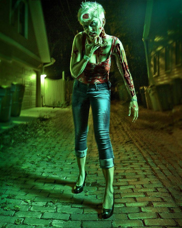 124 best zombie images on pinterest drawings zombie for Mirror zombie girl