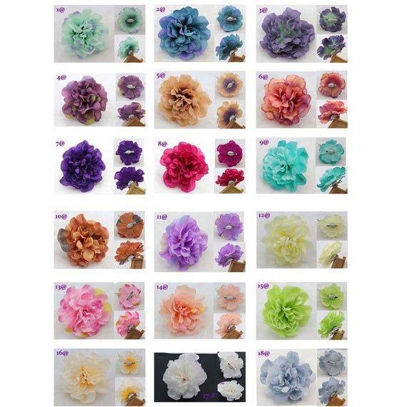 Große hübsche Haarspangen Blume Seide künstliche Blumen Haarschmuck Haarnadel Prom Party Hochzeit Haar