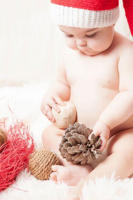 Fotografías de bebé en Navidad #fotosbebé #sesionnavidad #christmasshot