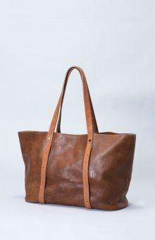 Elk | Raaka Tote | Raw, vegetable tanned leather carryall bag