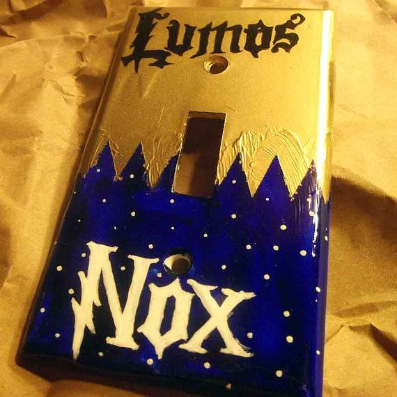Lumos and Nox Lightswitch Plate Harry Potter!