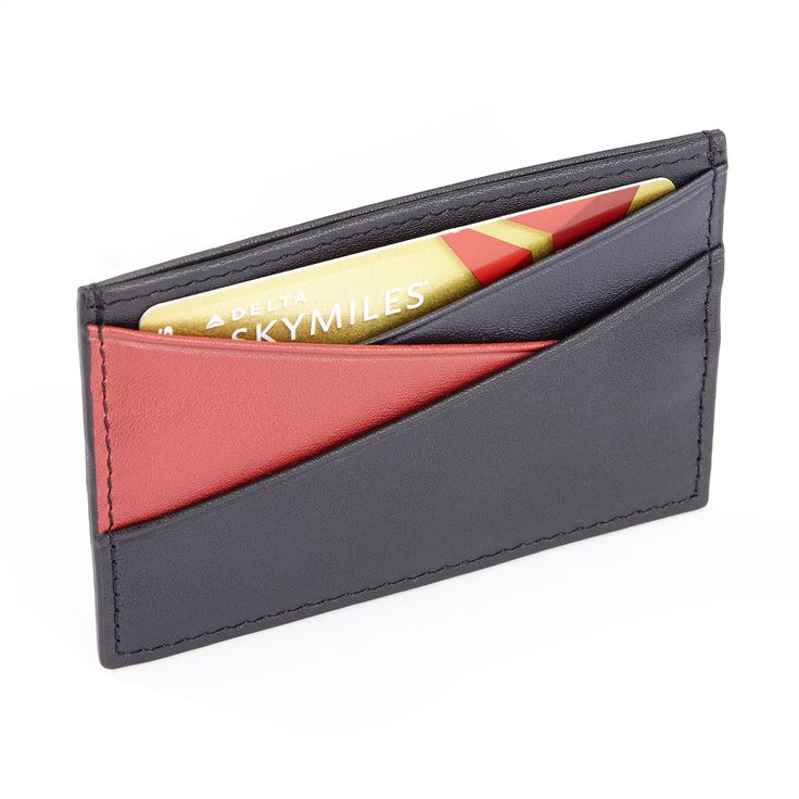Royce Top Grain Nappa Minimalist Rfid Theft Protection Three-color Credit Card Wallet, Adult Unisex