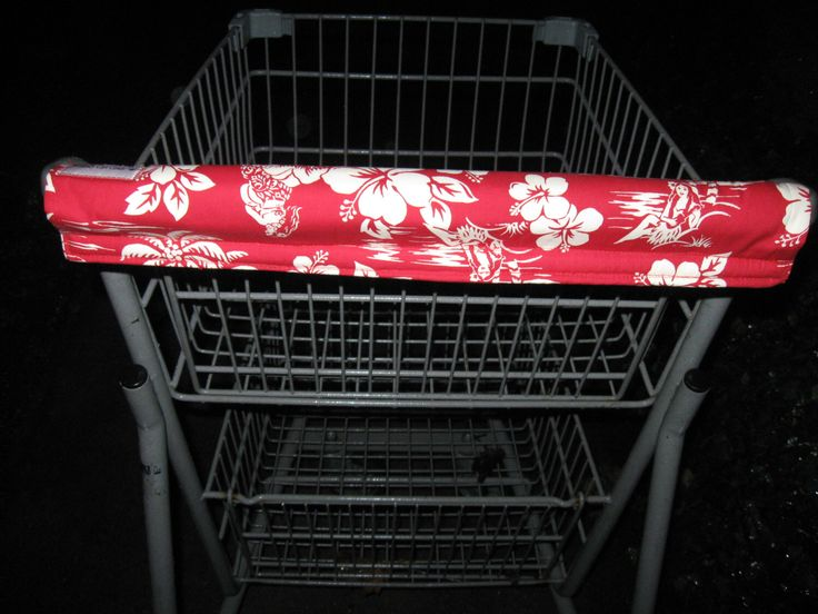 Shopping Cart Cover, Cart Handle Cover, Cart Cover, Shopping Cart Covers, Red Hawaiin Print Cart Cover, Handy Cart Cover, Handy Cart Cover by CountryCrafting on Etsy www.etsy.com/...