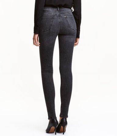 Shaping Skinny High Jeans | Dark gray denim | Ladies | H&M US