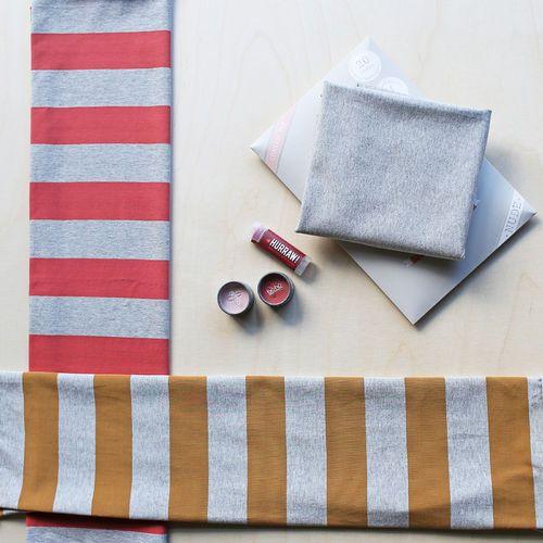 Maxi Stripes, Nutmeg - Light Melange Gray | NOSH Women Autumn 2016 Fabric Collection is now available at en.nosh.fi | NOSH Women syysmalliston 2016 uutuuskankaat saatavilla verkosta nosh.fi