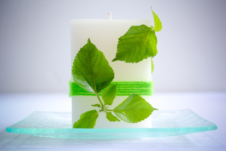 wikiHow to Make Designer Leaf Candles -- via wikiHow.com