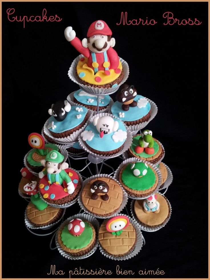 les 25 meilleures id es de la cat gorie gateau mario sur pinterest cupcakes super mario. Black Bedroom Furniture Sets. Home Design Ideas