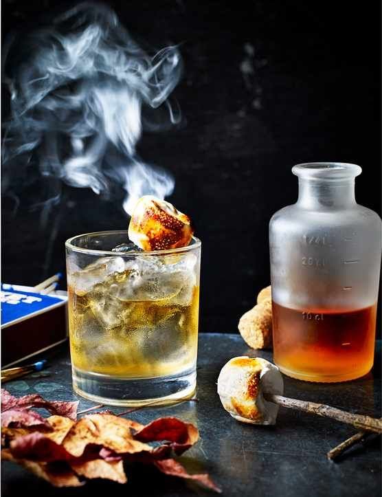 Cocktail Campfire This sweet and smokey Bonfire-Night-inspired cocktail comes from the brilliant team at whisky bar Black Rock just off Finsbury Square, London EC2.